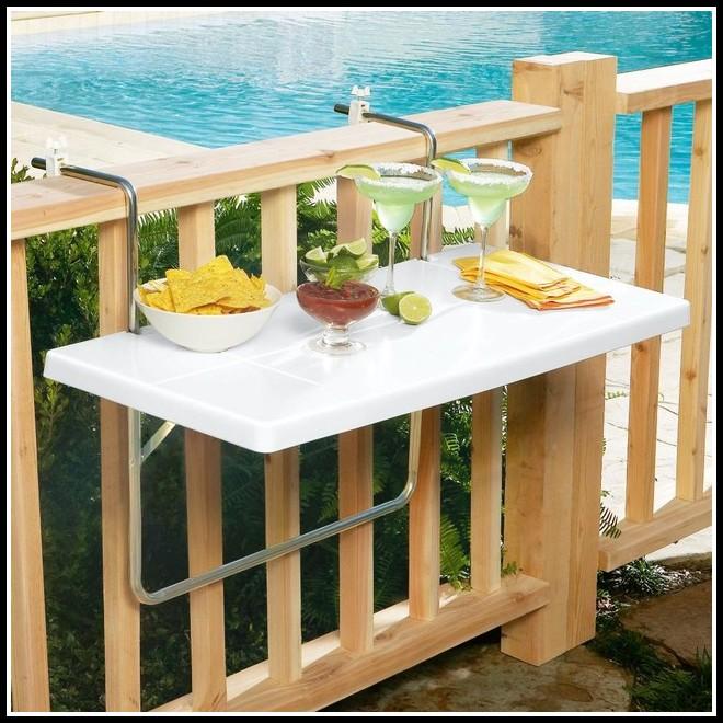 Folding Deck Rail Table