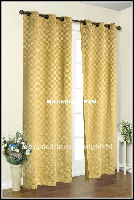 Grey And Yellow Blackout Curtains