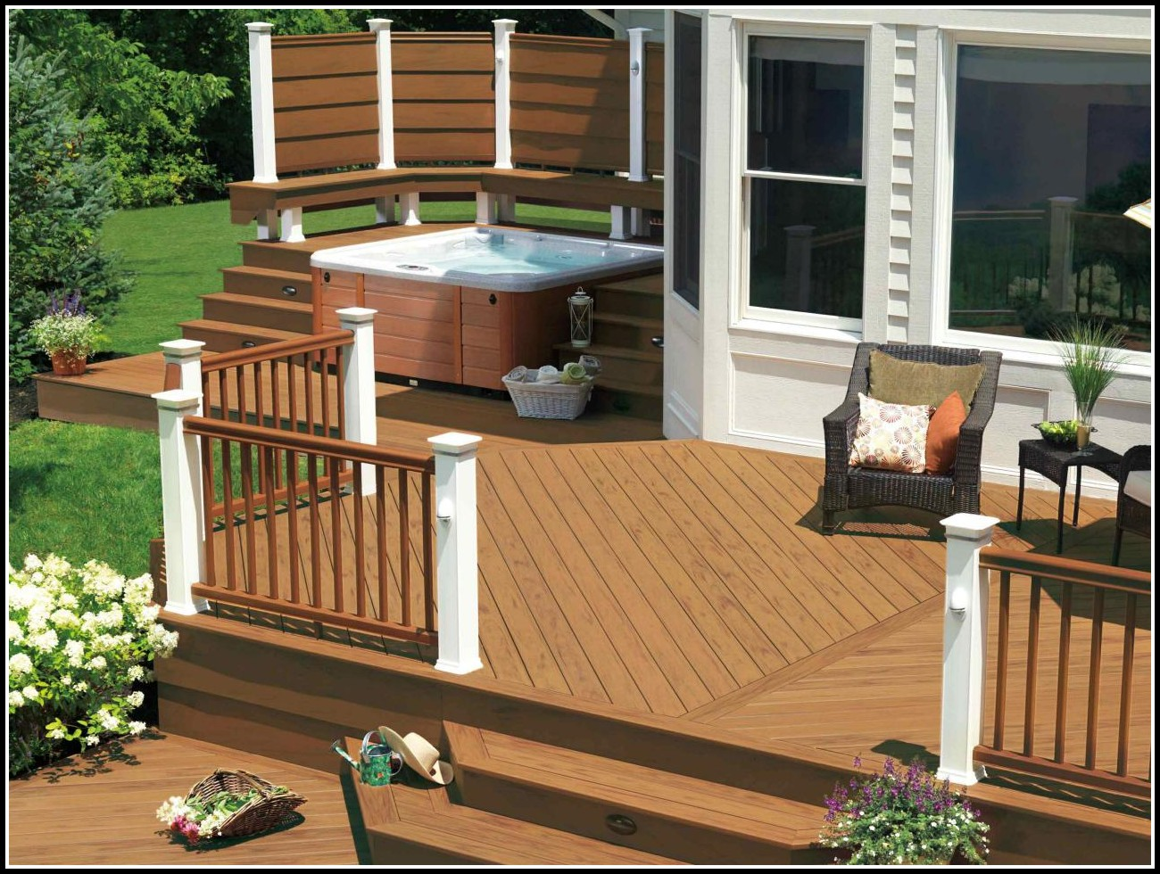 Hot Tub Decks And Patios