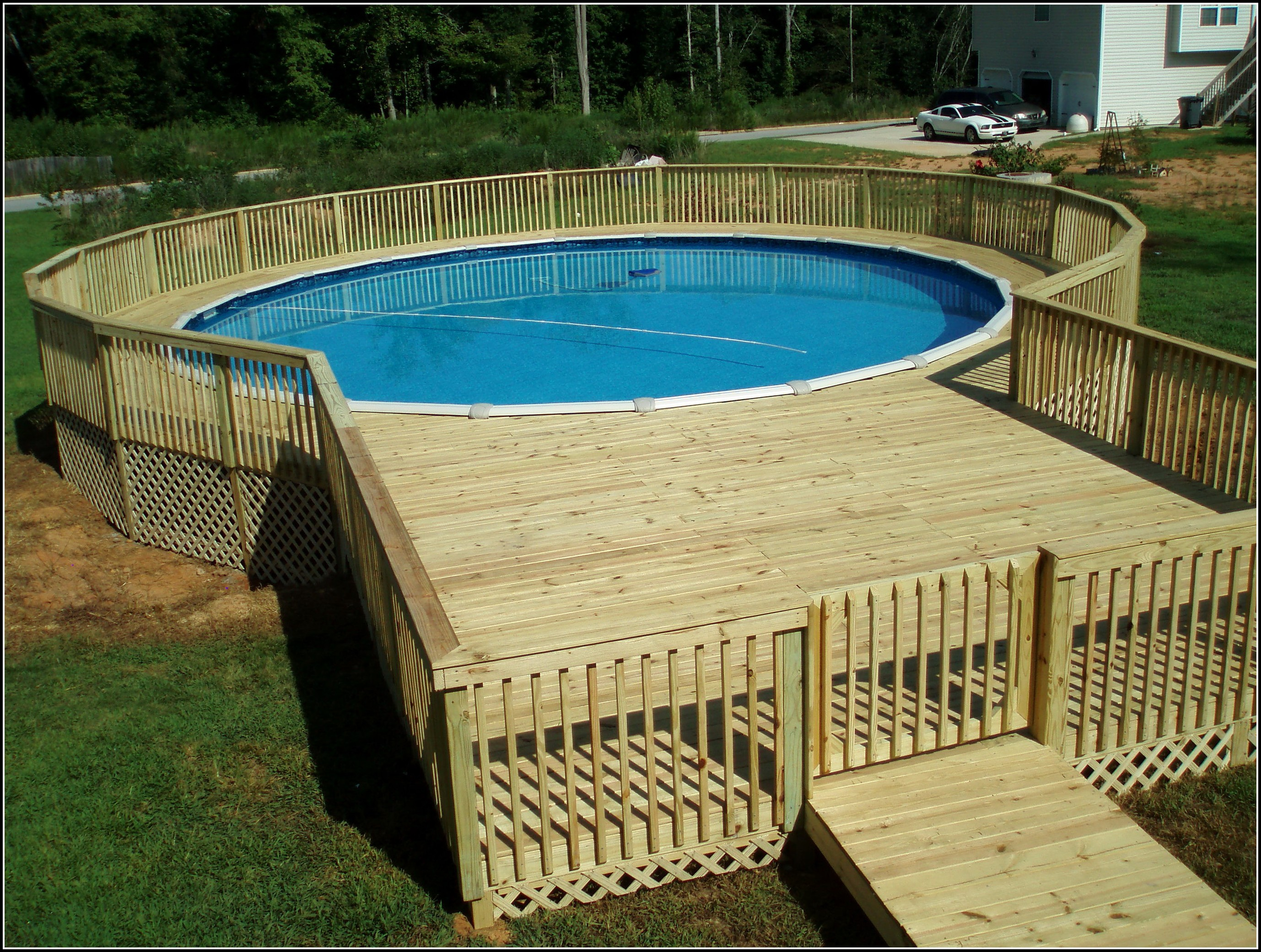 Images Of Decks Around Above Ground Pools