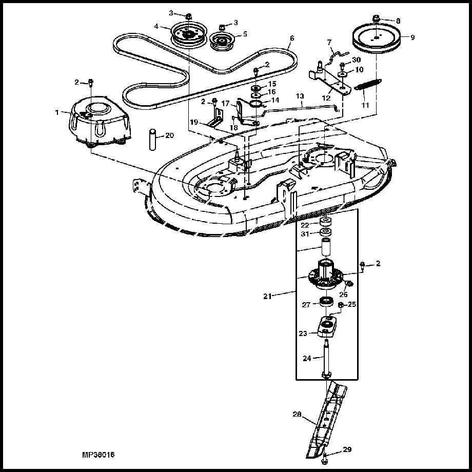 John Deere L110 42 Inch Mower Deck
