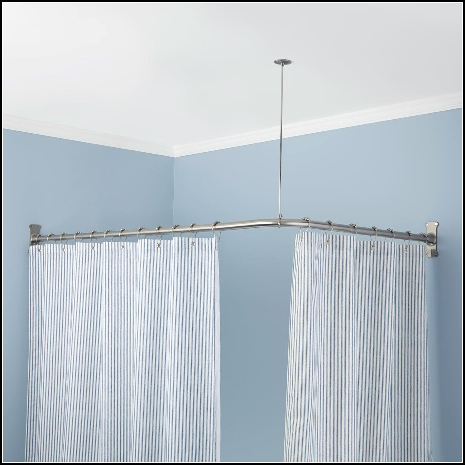 L Shaped Curtain Rod Home Depot