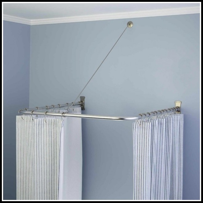 L Shaped Curtain Rod Walmart