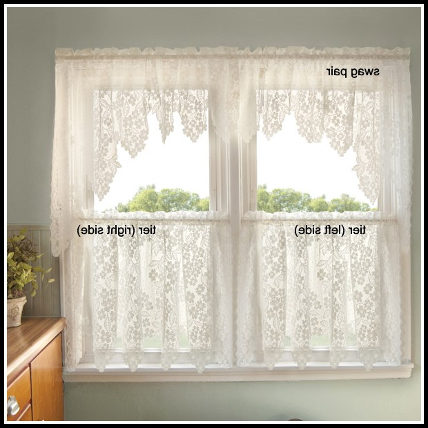 Lace Curtain Panels White