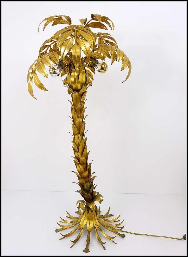 Metal Palm Tree Floor Lamp