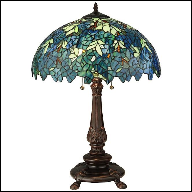 Meyda Tiffany Nightfall Wisteria Table Lamp