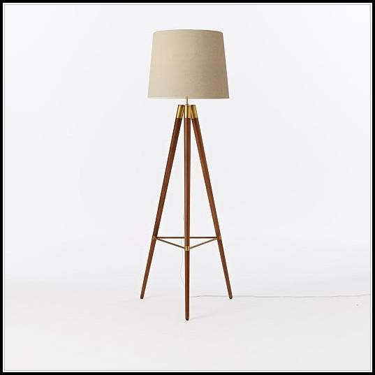 Mid Century Floor Lamp Wood