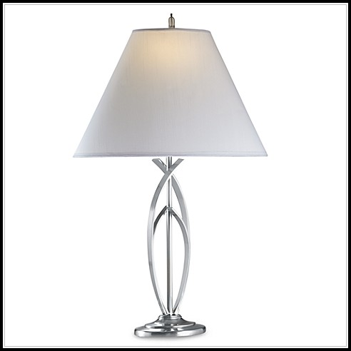 Modern Brushed Nickel Table Lamp