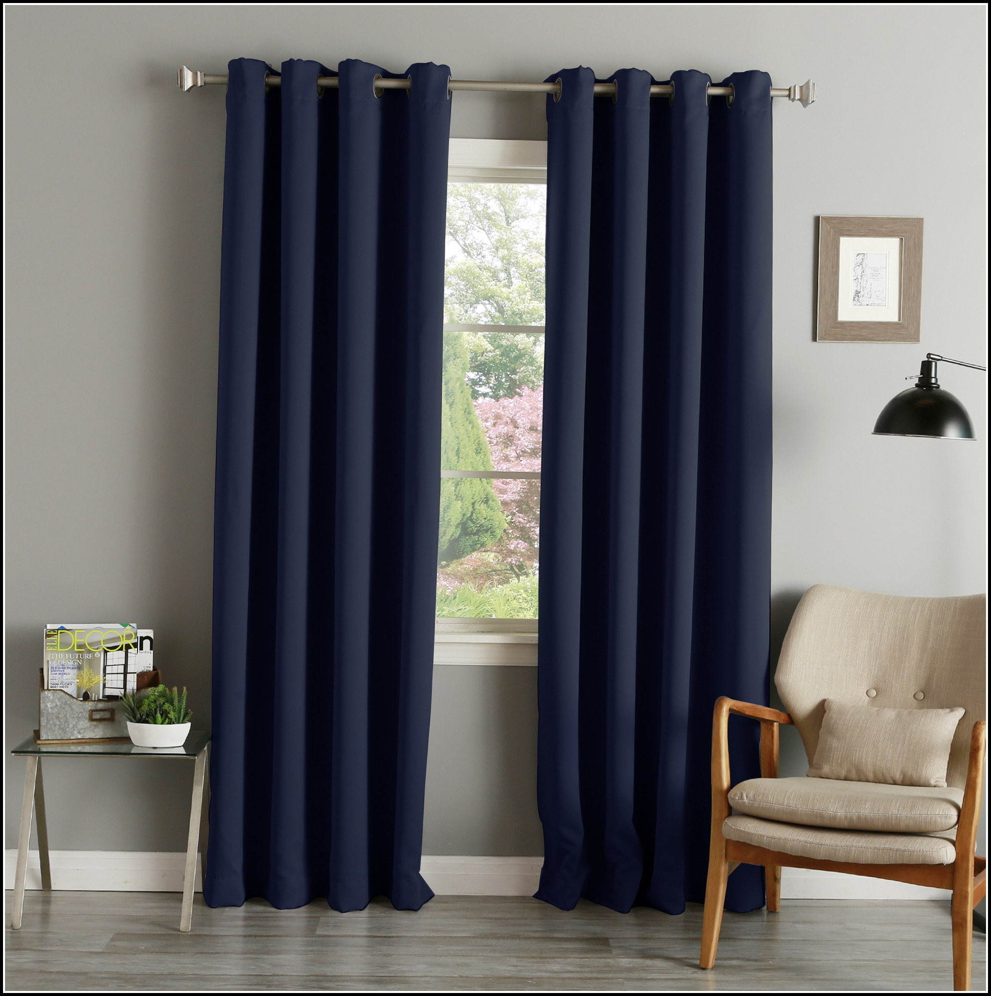 Navy Blackout Curtains 63