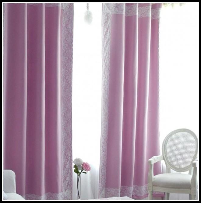 Pastel Pink Blackout Curtains