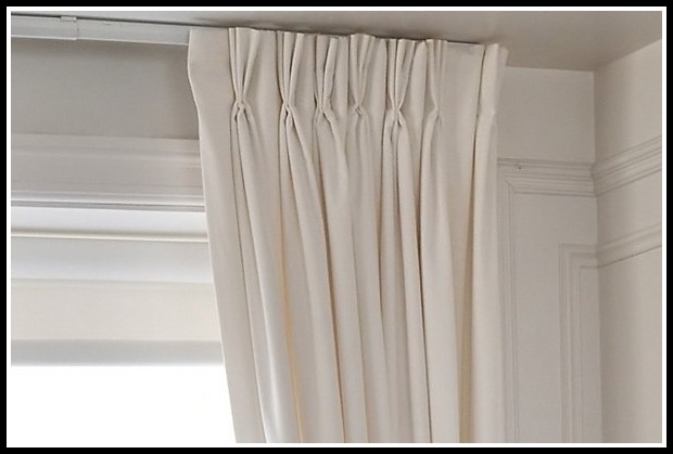 Pinch Pleat Curtains On A Track