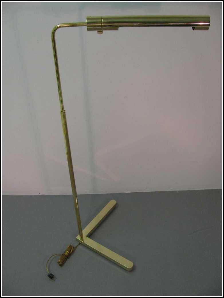 Polished Brass Pharmacy Floor Lamp