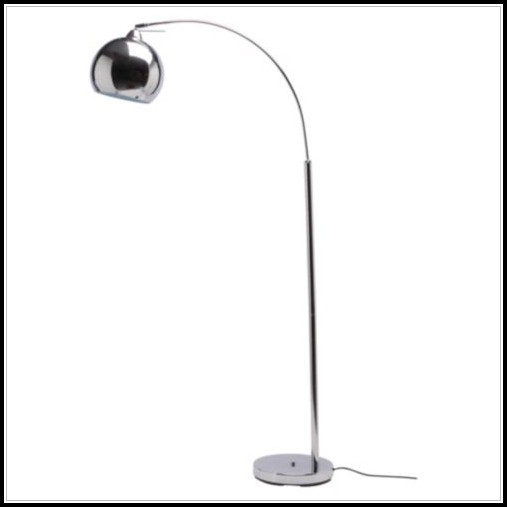Polished Chrome Arc Floor Lamp