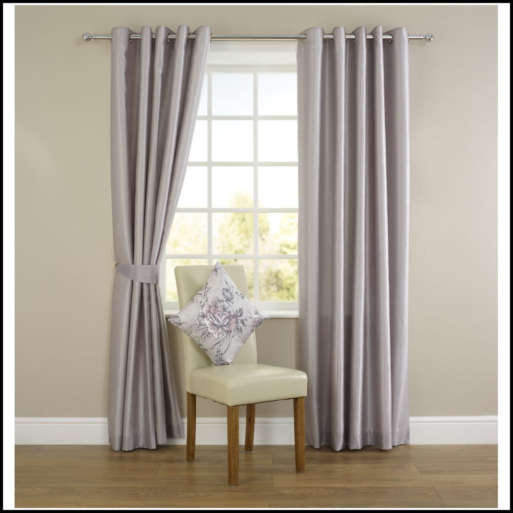 Silver Faux Silk Curtains