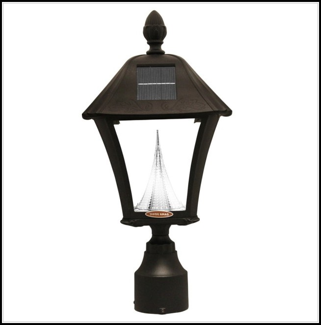 Solar Lamp Post Light Fixture And Pole