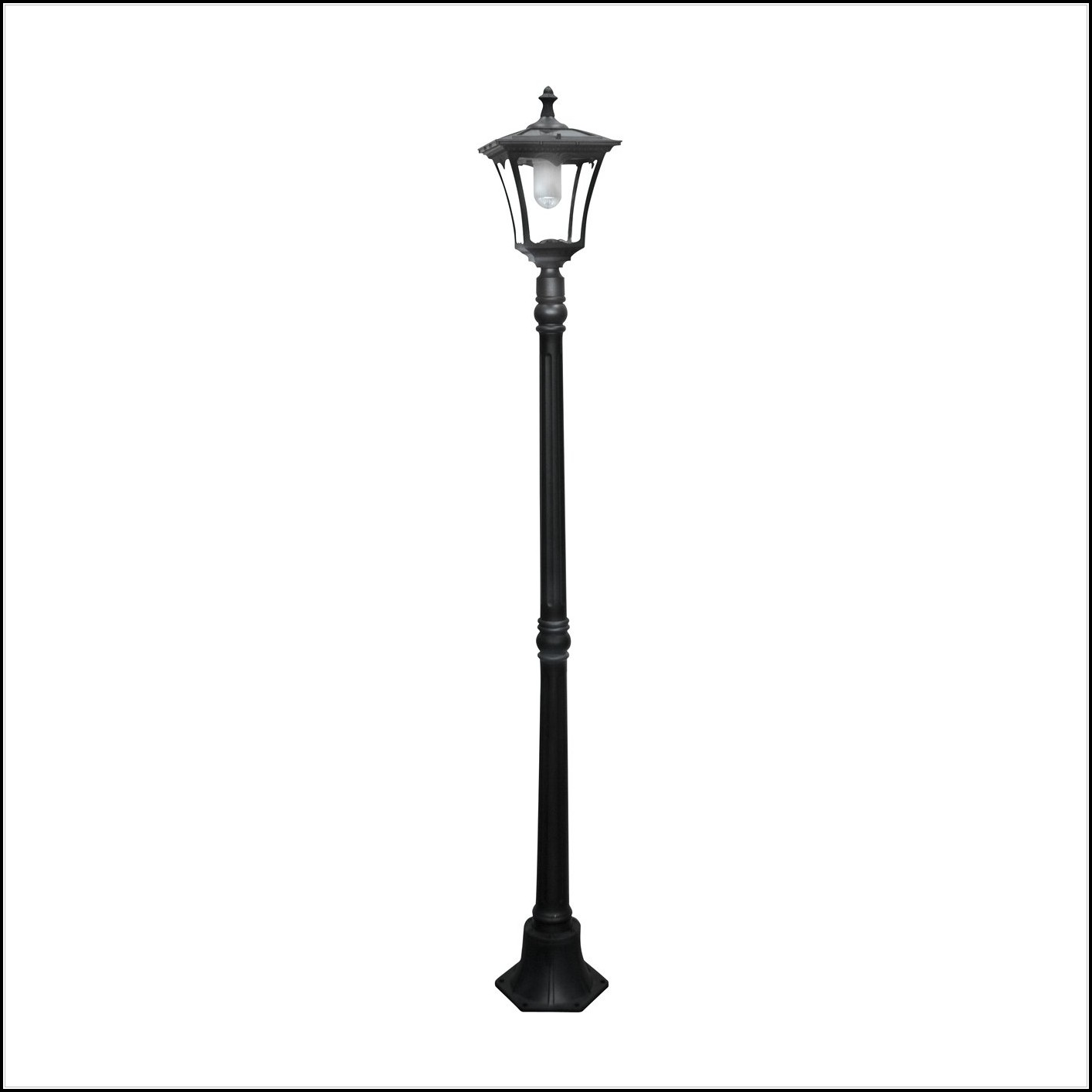 Solar Lamp Post Lights With Planter
