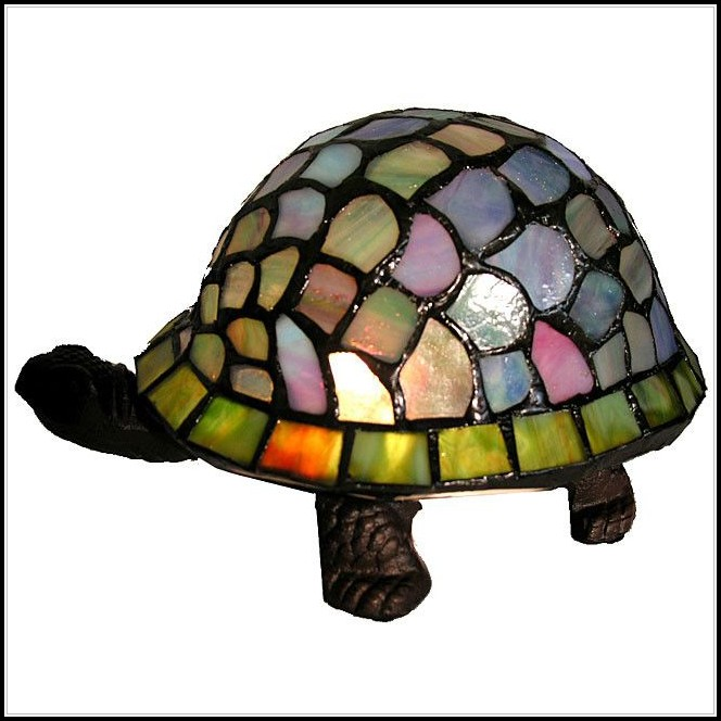 Stained Glass Turtle Accent Lamp