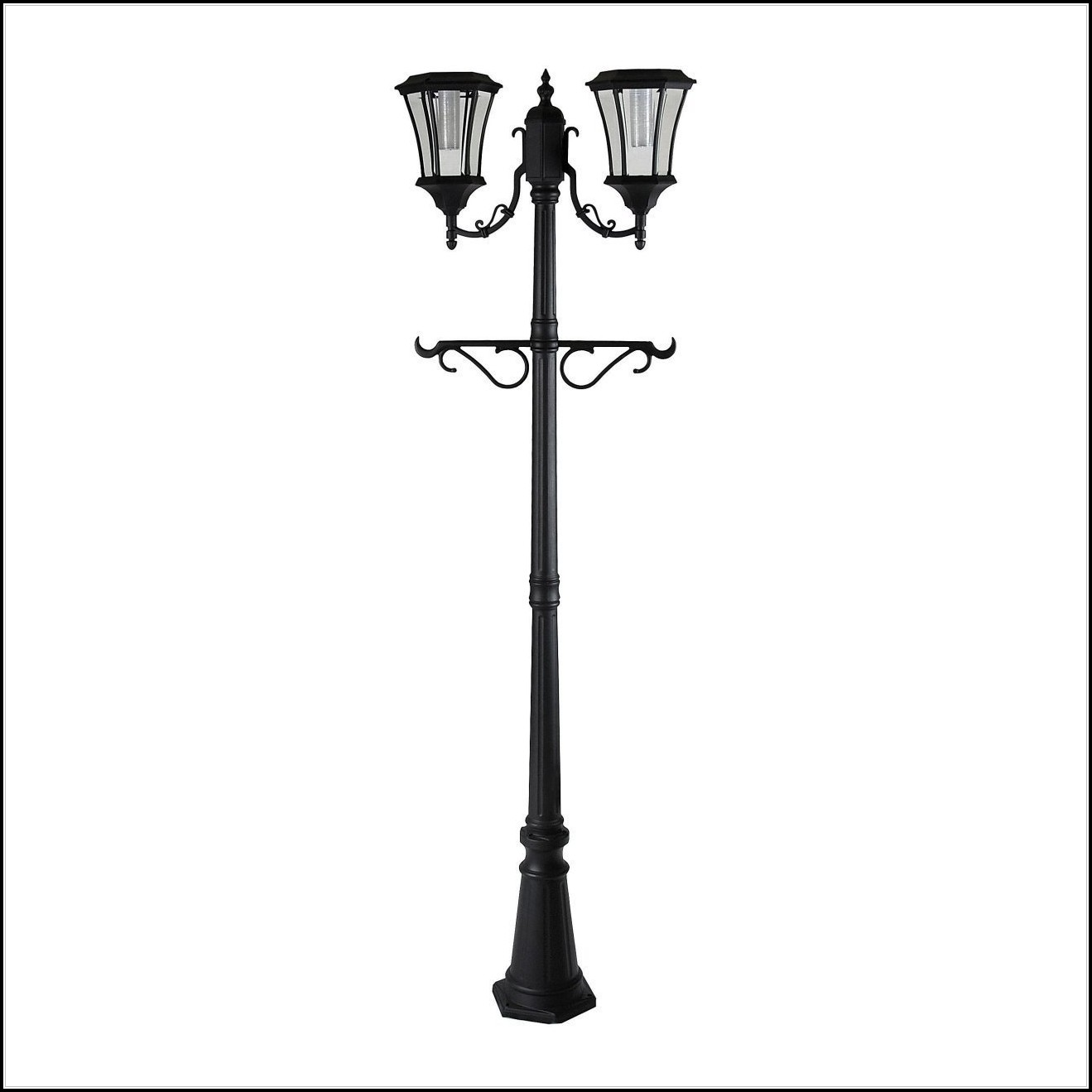 Sunergy Solar Lamp Post With Planter Base
