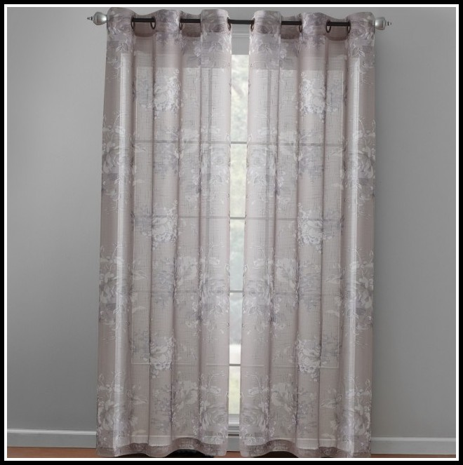 Taupe Grommet Curtain Panels
