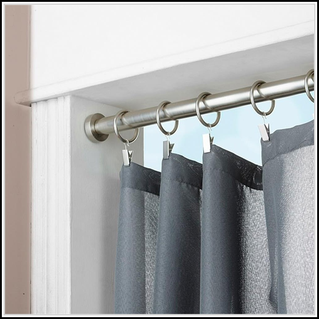 Tension Rod Curtain Ideas