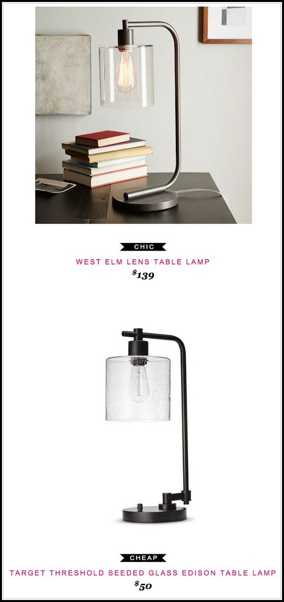 Threshold Seeded Glass Table Lamp