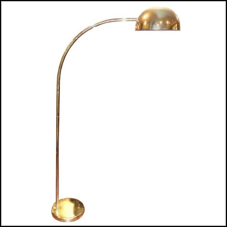 Vintage Brass Arc Floor Lamp