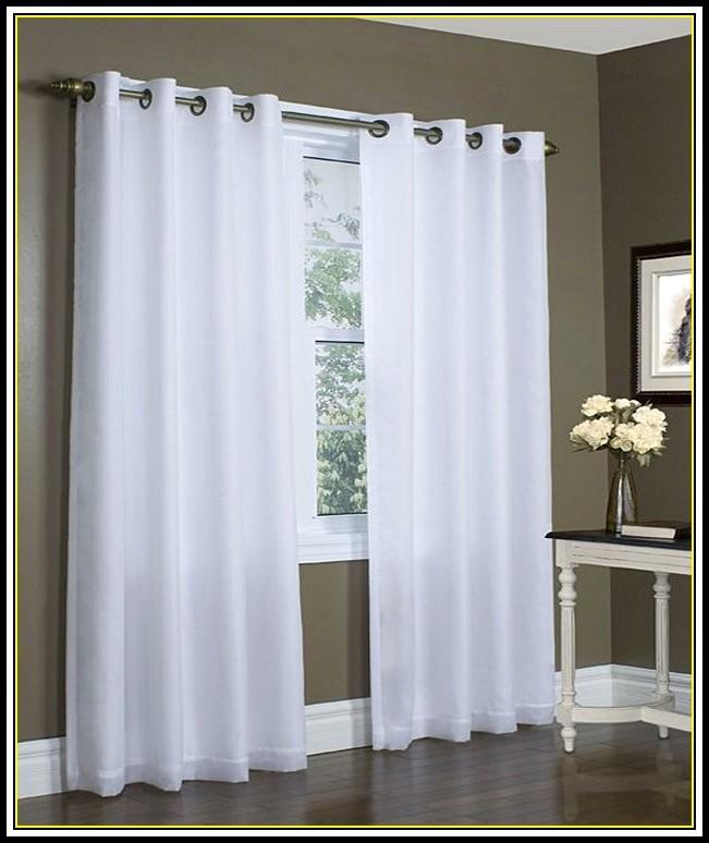 White Blackout Curtains Grommet