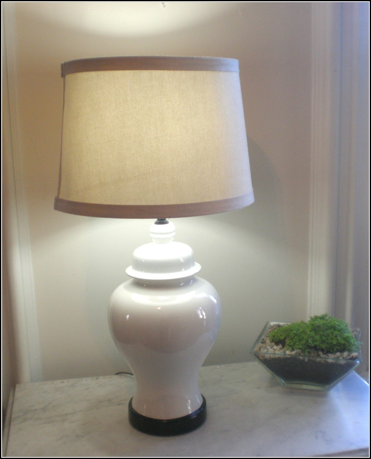 White Ginger Jar Table Lamps