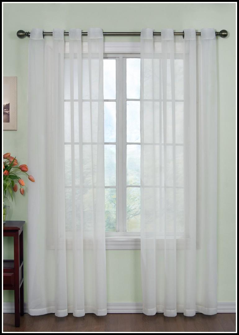 White Sheer Grommet Curtains