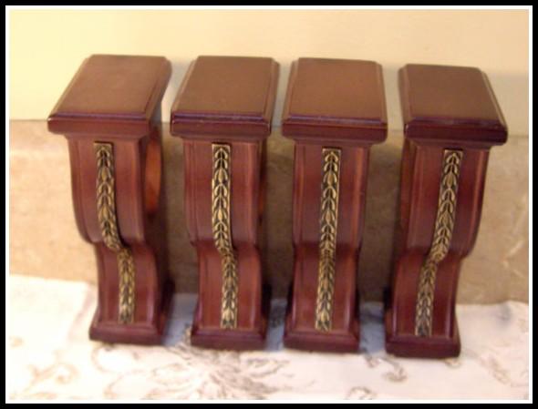 Wood Curtain Rod Holders