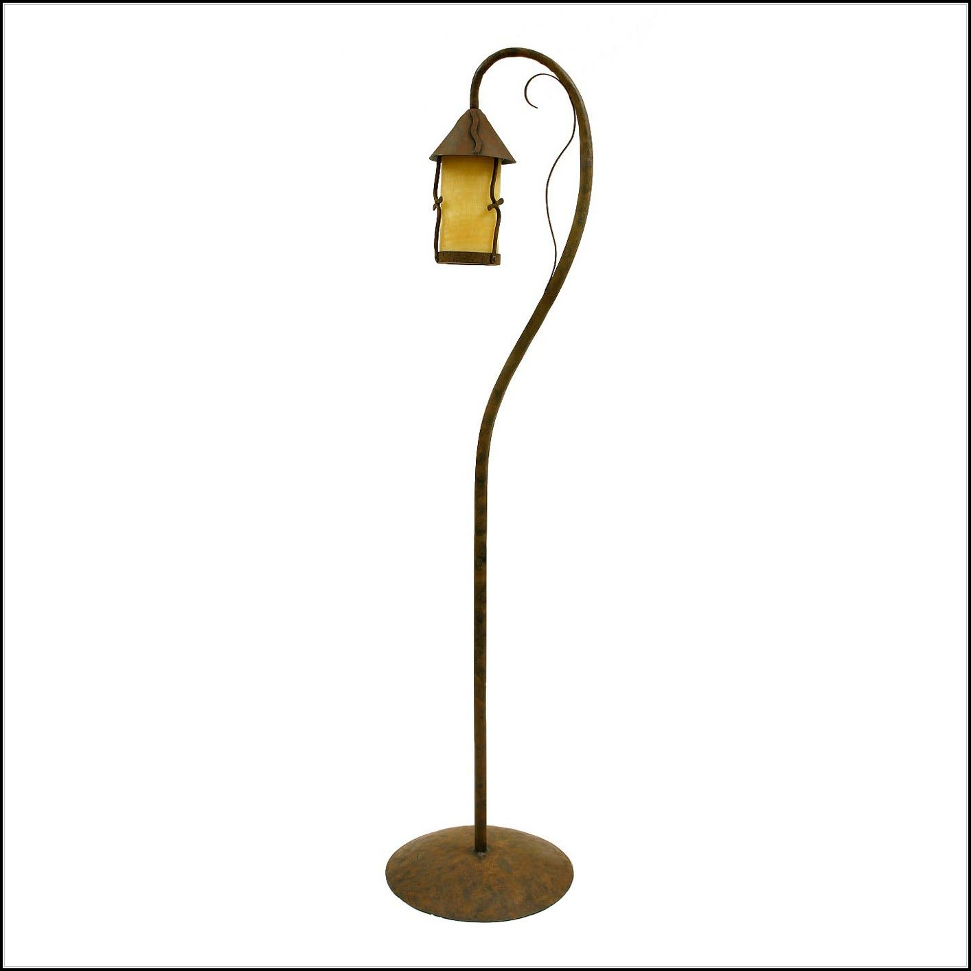 Wrought Iron Floor Lamp Rustic