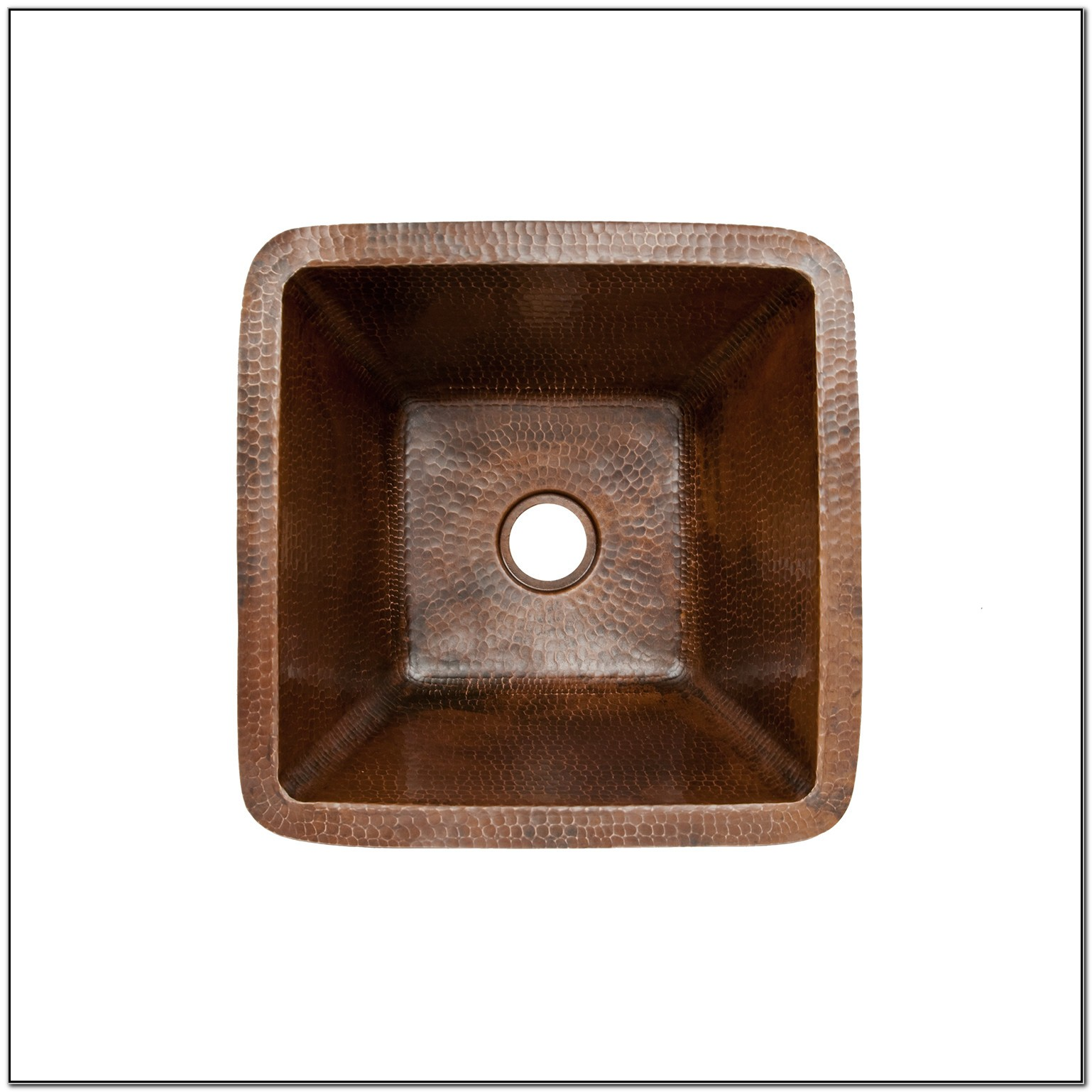 15 Square Hammered Copper Bar Sink