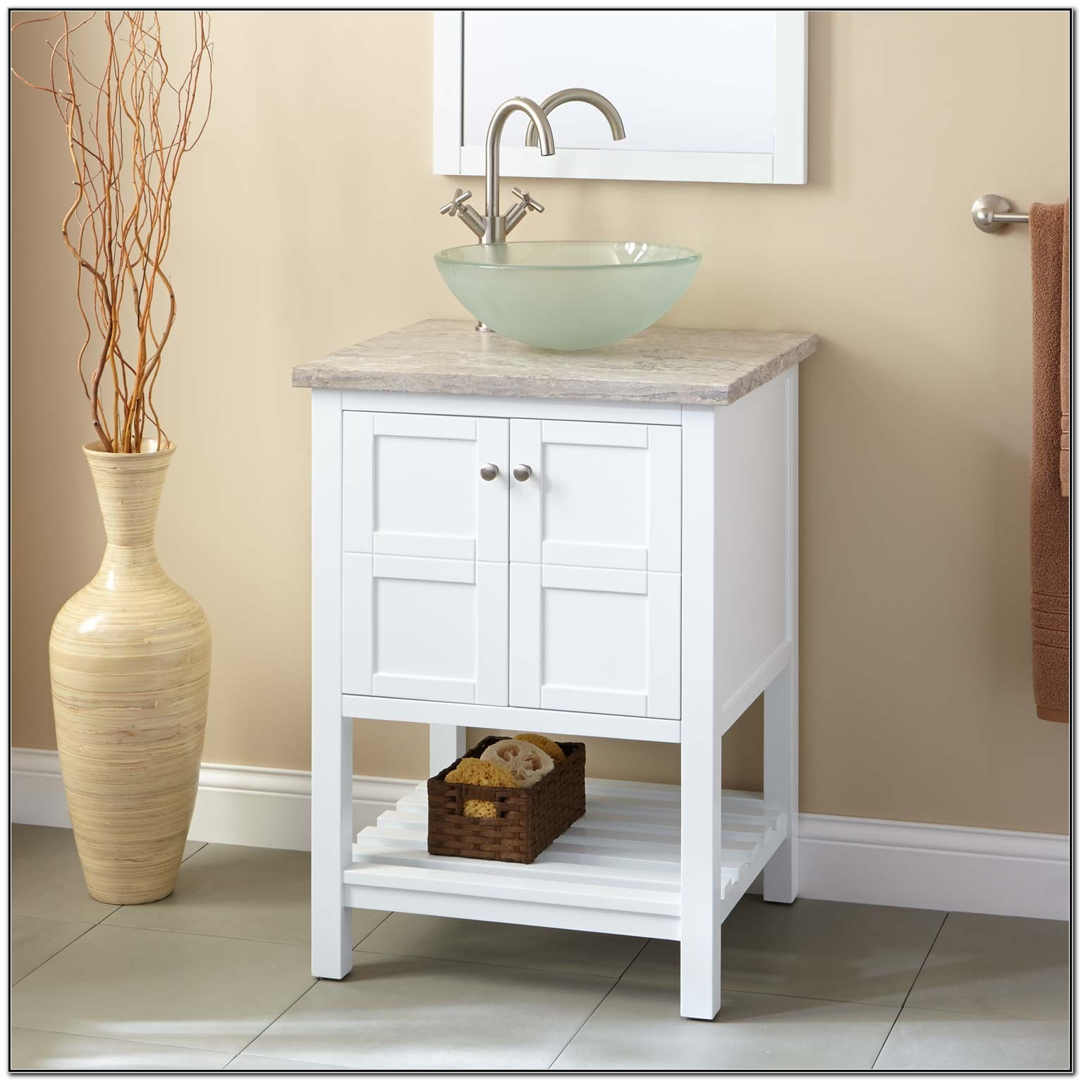 24 Bathroom Vanity With Vessel Sink