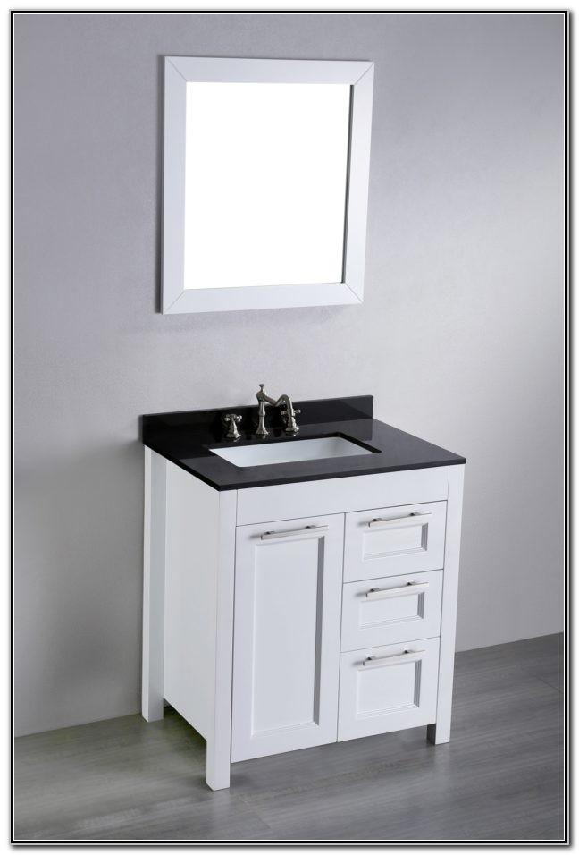 24 Inch Black Bathroom Vanity With Sink