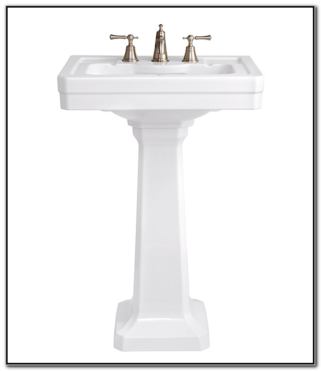 24 Inch Pedestal Bathroom Sink