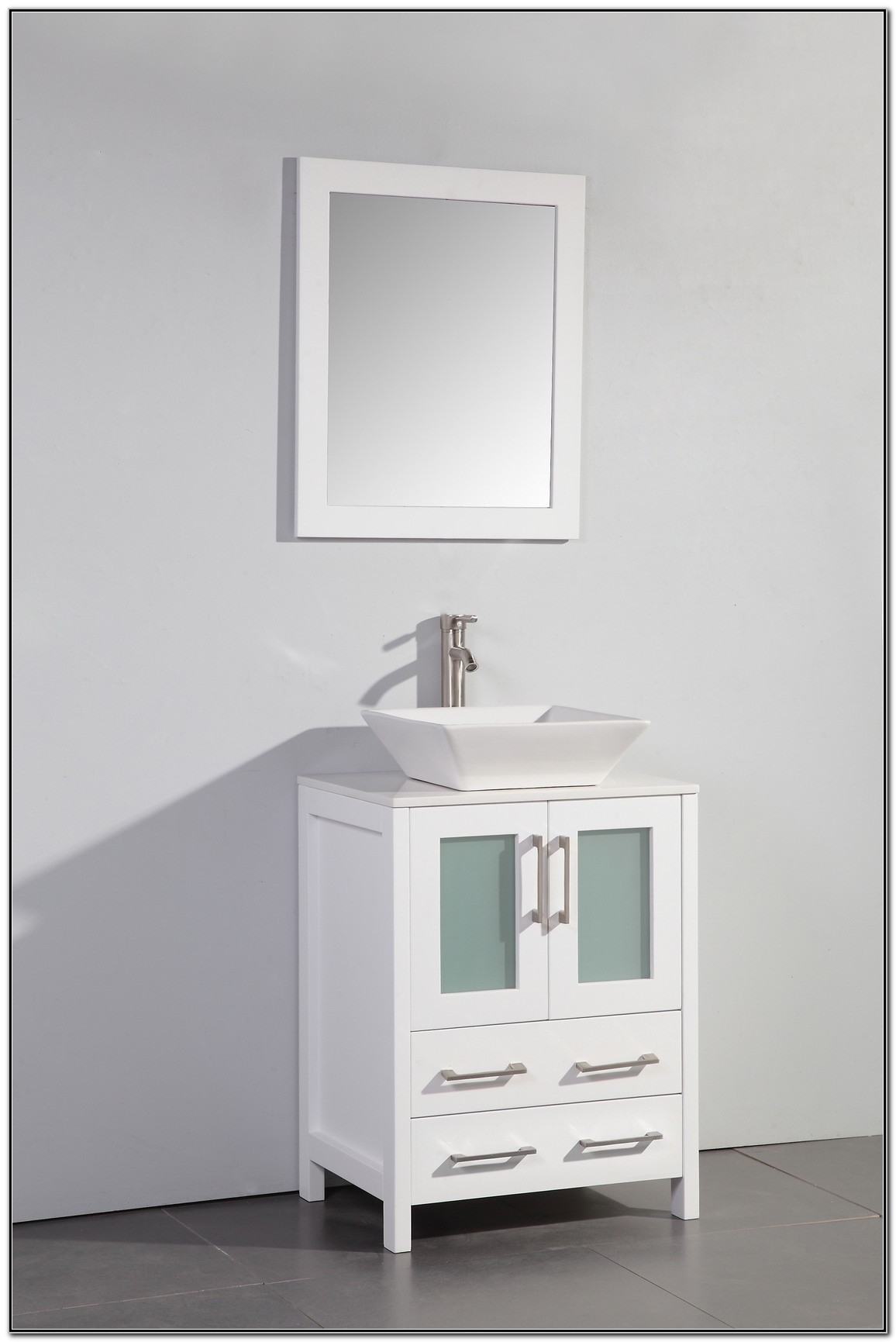 24 Inch White Bathroom Vanity With Sink
