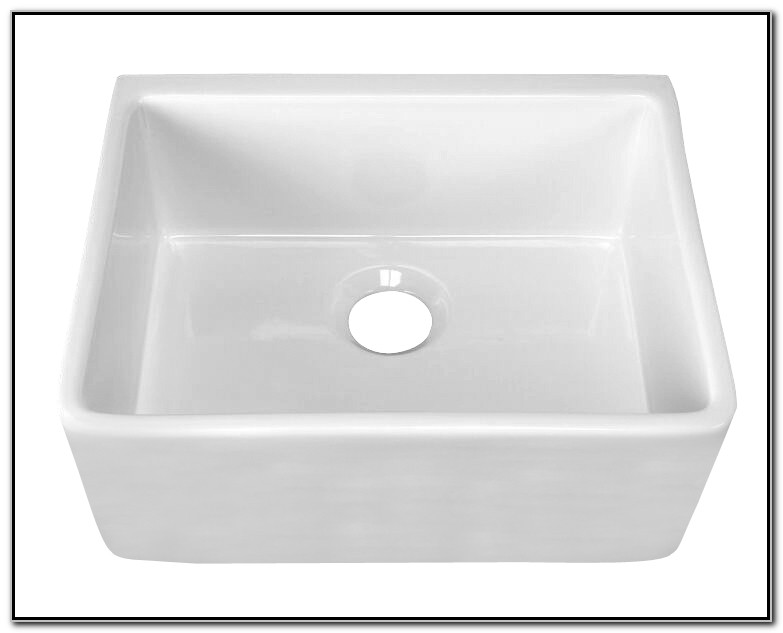 24 White Apron Front Sink