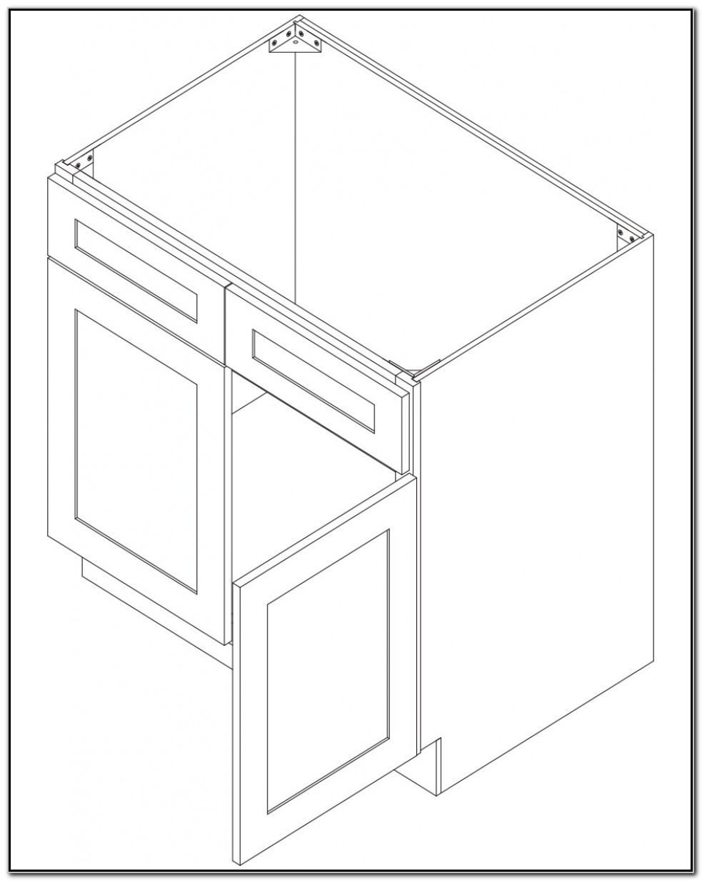 24 White Sink Base Cabinet