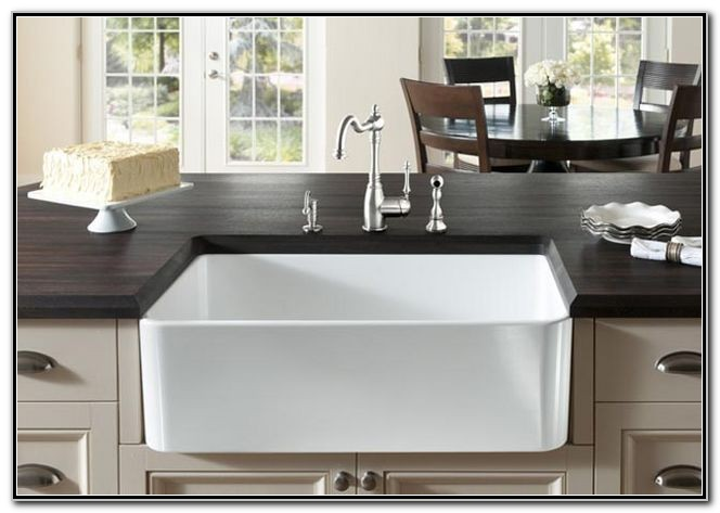 30 Apron Front Sink White