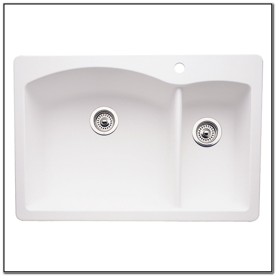 33 X 22 White Kitchen Sink