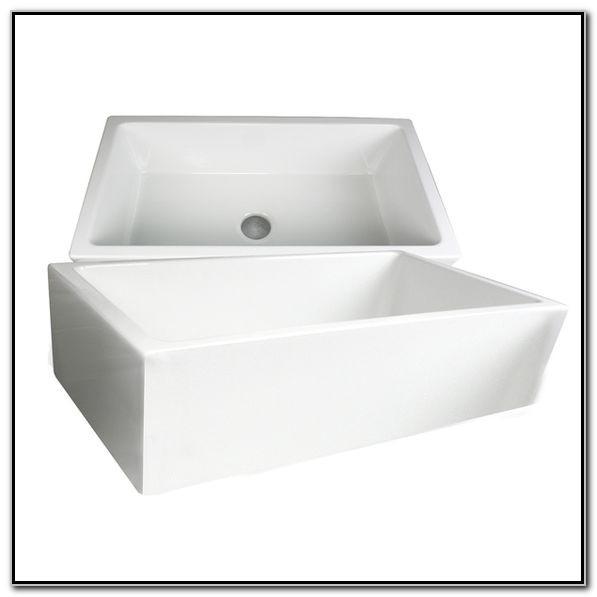 36 Inch White Fireclay Farmhouse Sink