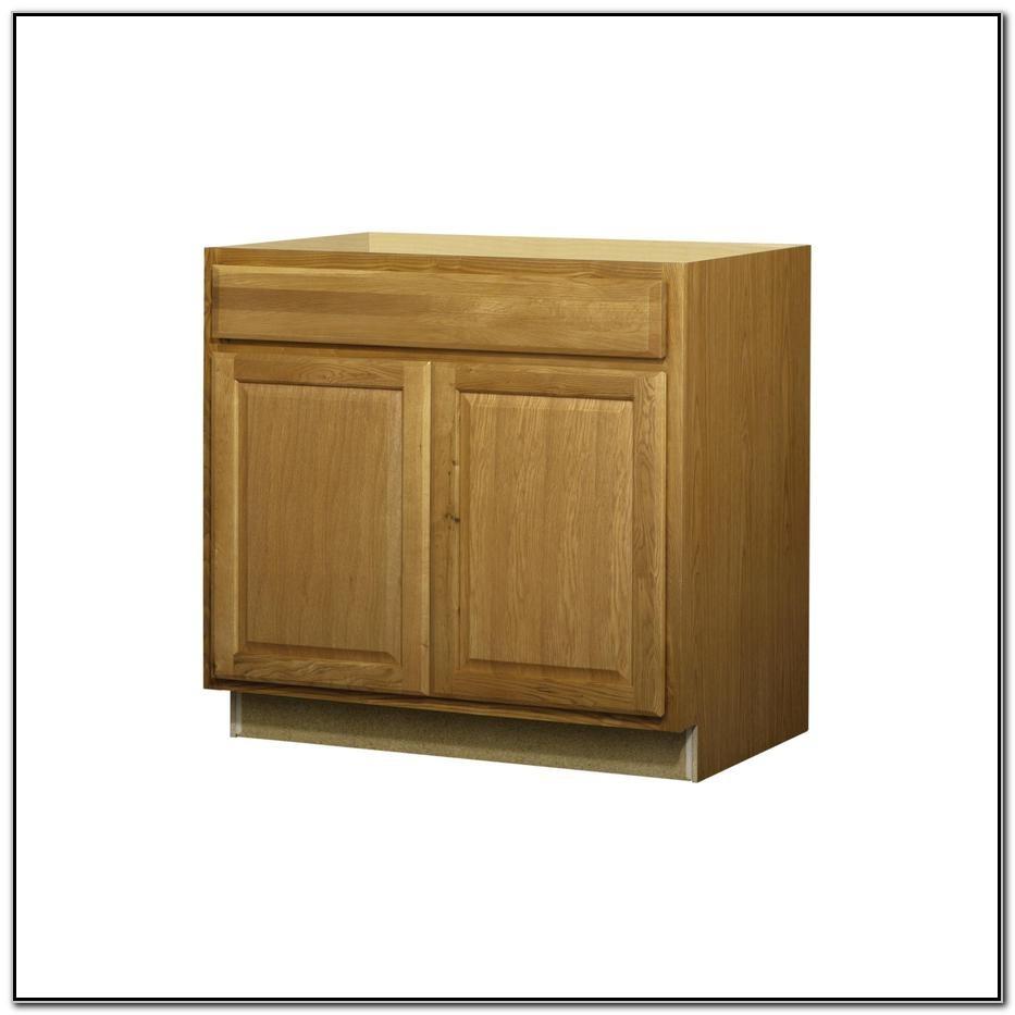 36 Oak Sink Base Cabinet