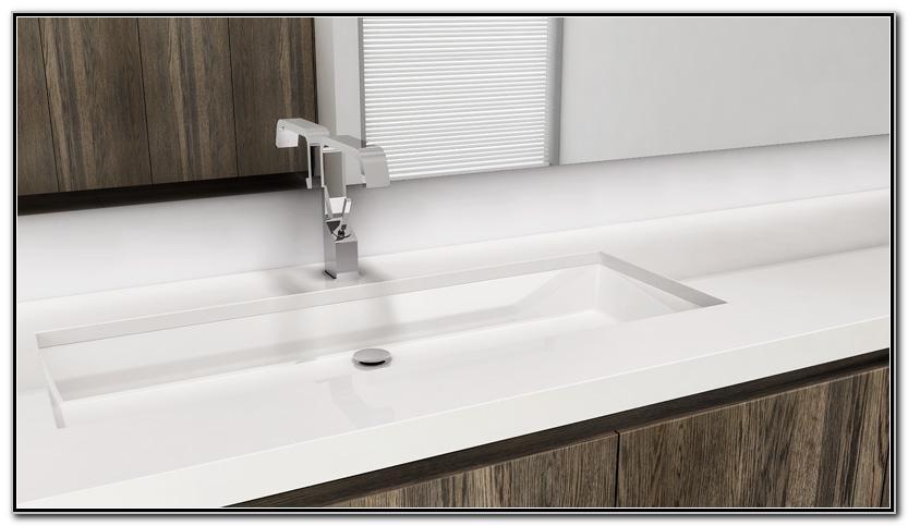 36 Undermount Trough Bathroom Sink