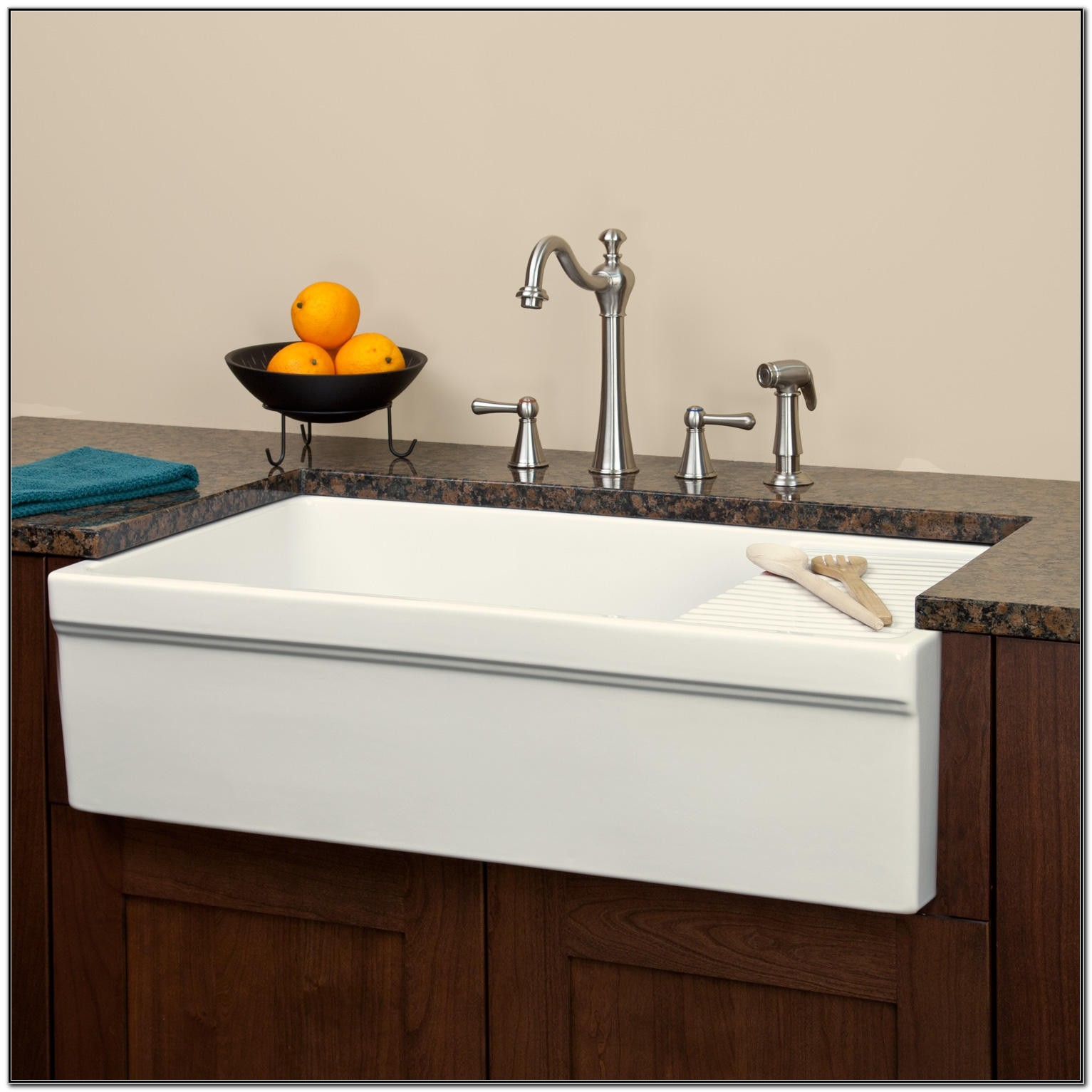 36 White Fireclay Farmhouse Sink