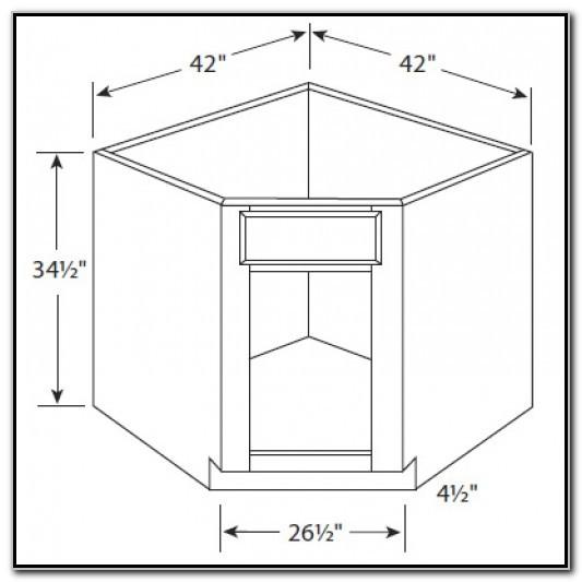 42 Inch Corner Sink Base Cabinet