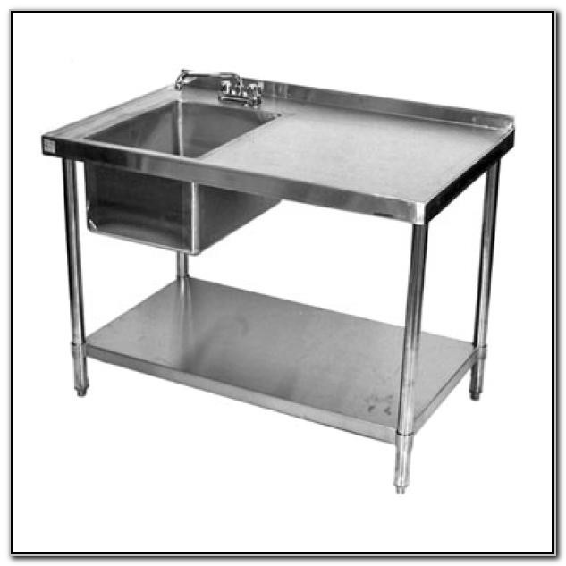 48 Prep Table With Sink