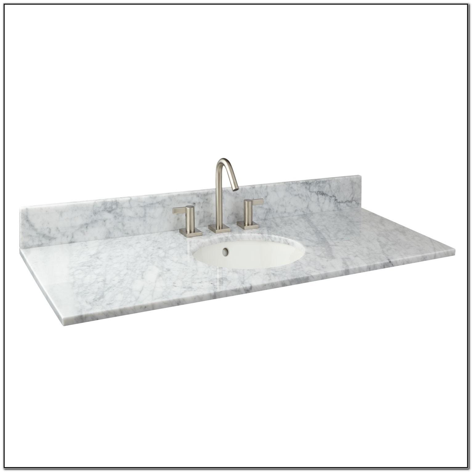 49 Marble Vanity Top With Undermount Sink