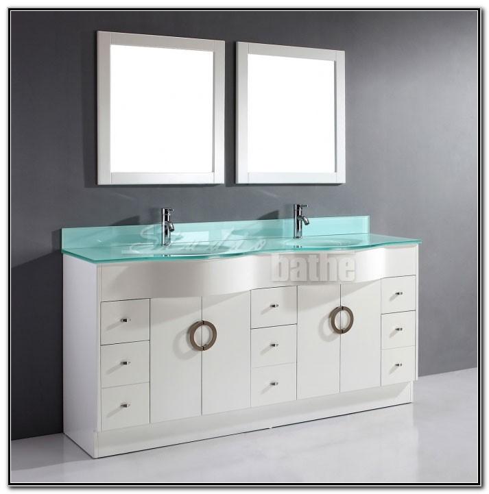 72 Inch White Double Sink Vanity
