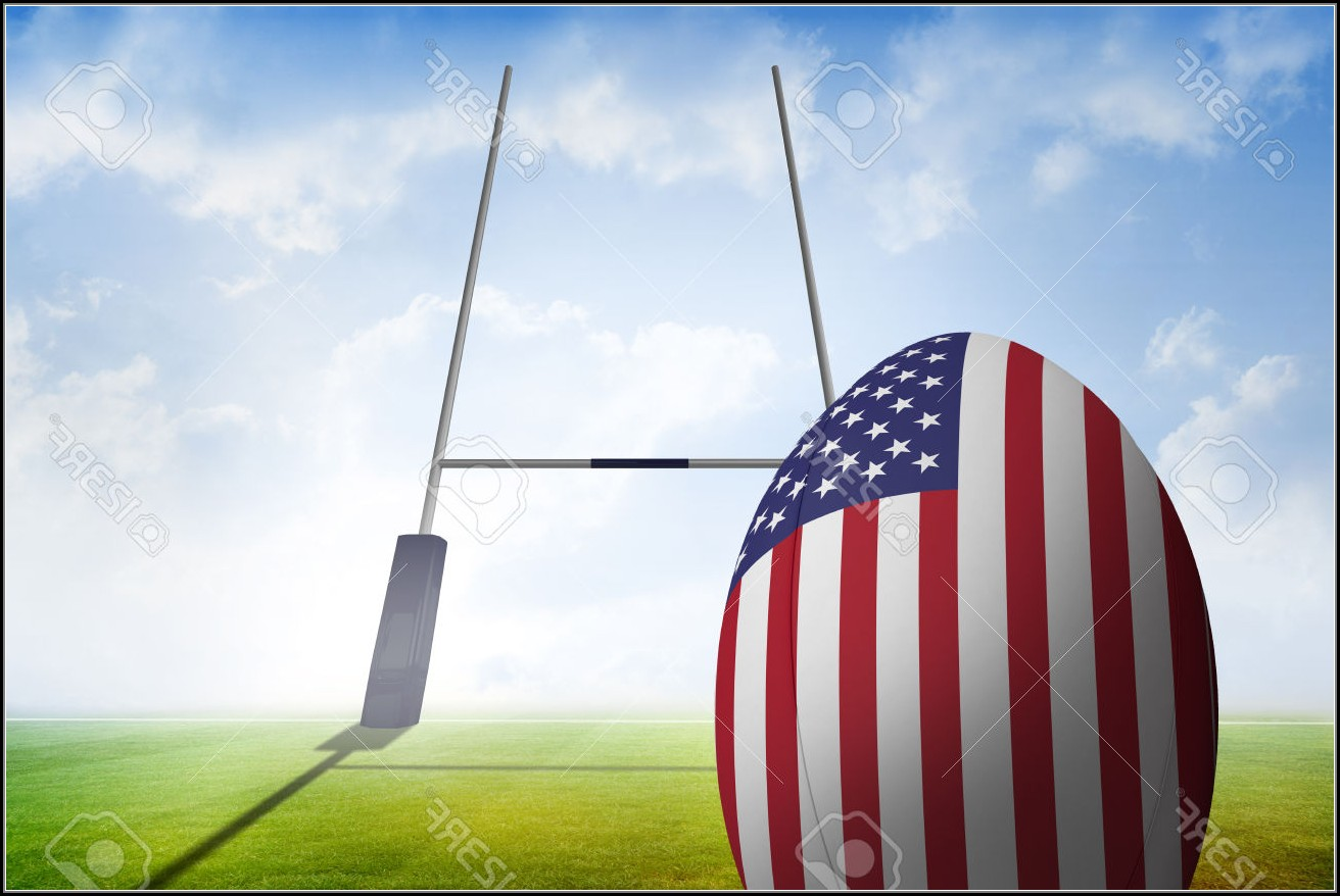 American Flag Rugby Ball