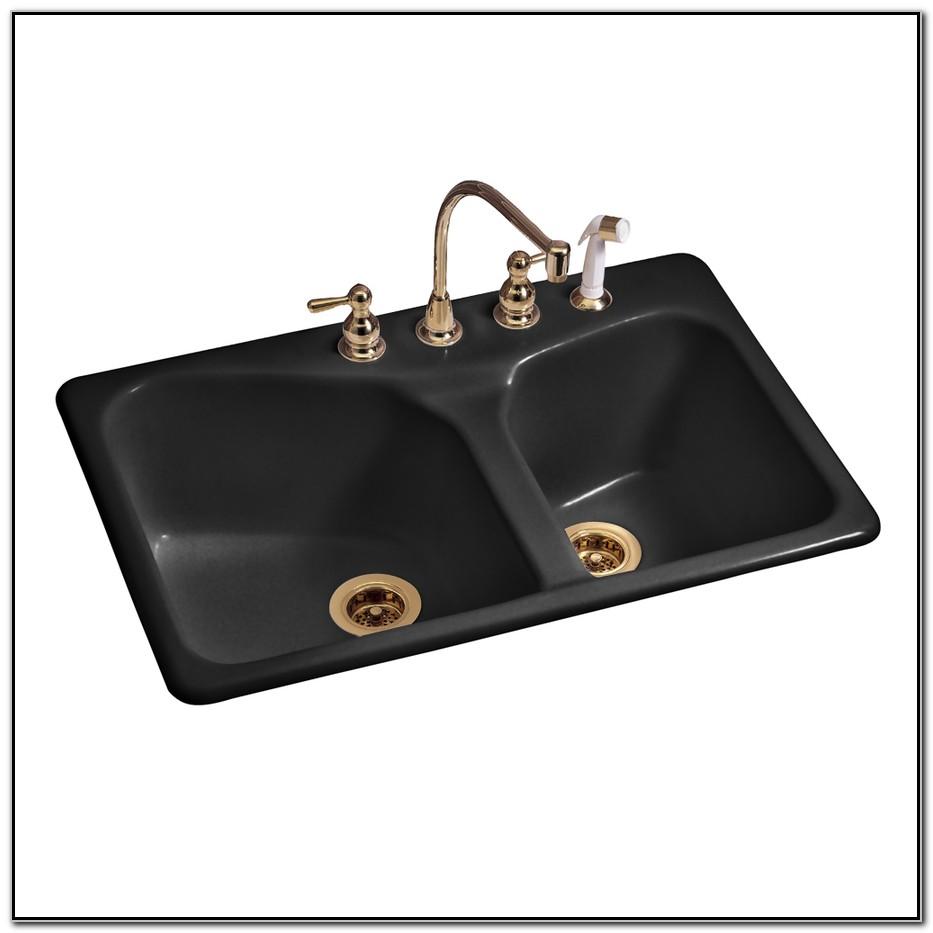 American Standard Black Cast Iron Sink